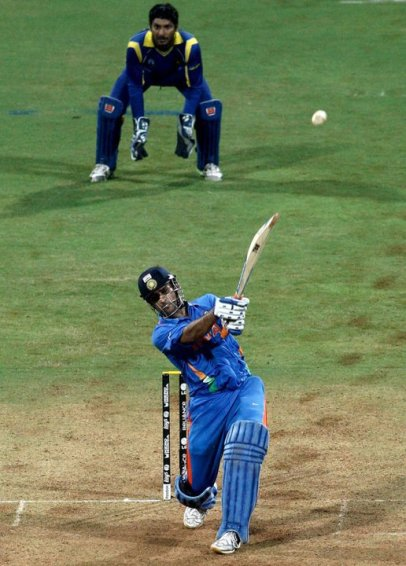 Winning shot by Dhoni in 2011 World Cup Final