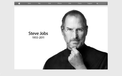 Steve Jobs (from Apple Home Page on 6th October 2011)